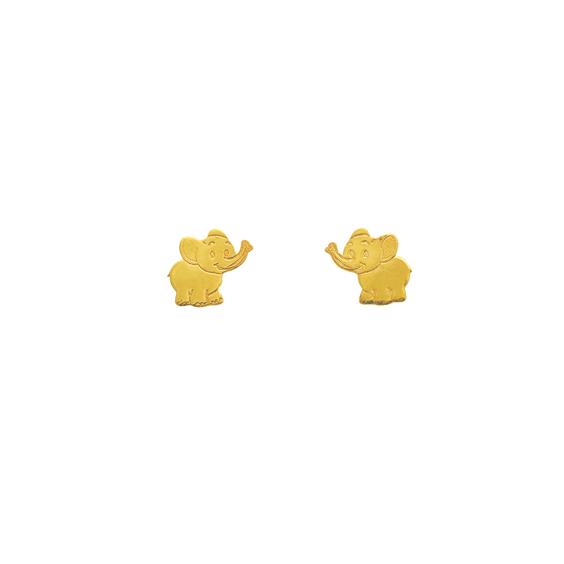 Boucles d'oreilles éléphants Or 9 carats - La Petite Française