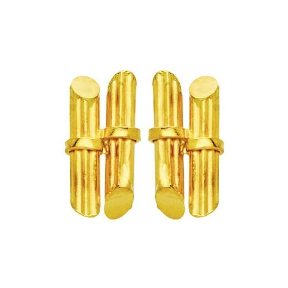 Boucles d'oreilles fagots de canne a sucre Or 18 carats - 12 MM - La Petite Française