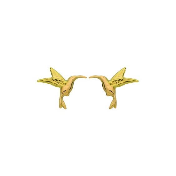 Boucles d'oreilles colibri Or 18 carats - La Petite Française