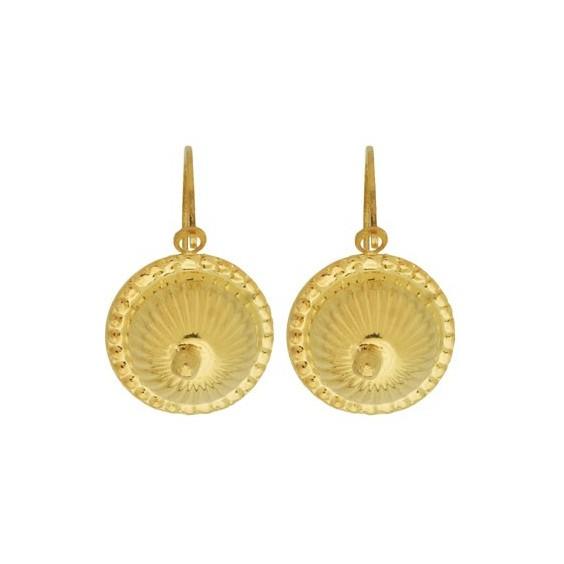 Boucles d'oreilles sablaise boule choux Or 18 carats - La Petite Française