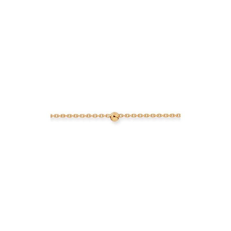 Chaîne de cheville boules Or 18 carats - La Petite Française