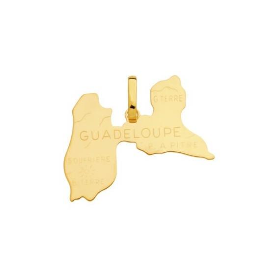 Pendentif Guadeloupe Or 18 carats jaune - 20 MM - La Petite Française