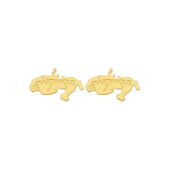 Boucles d'oreilles Martinique Or 18 carats jaune - 15 MM - La Petite Française
