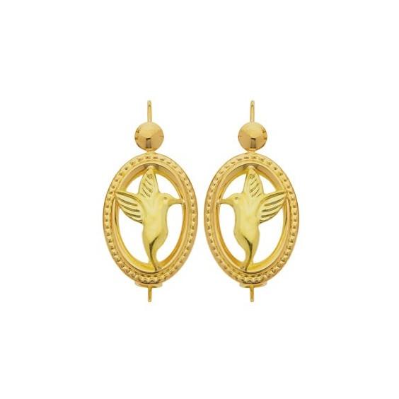 Boucles d'oreilles sablaises colibris Or 18 carats - La Petite Française