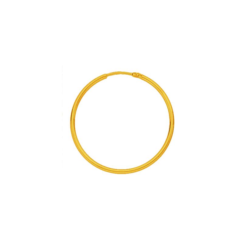 Créoles fil rond 1.5 MM - Or 18 carats jaune - 40 MM - La Petite Française