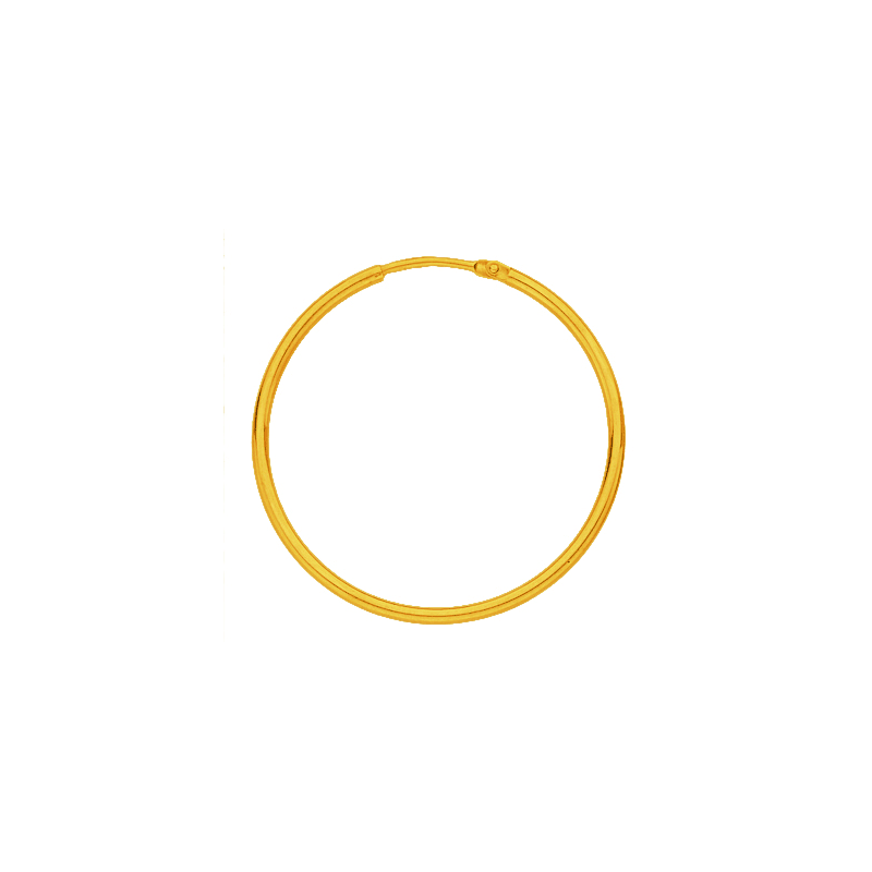Créoles fil rond 1.5 MM Or 18 carats jaune - 12 MM - La Petite Française
