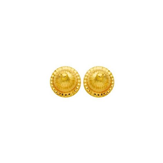 Boucles d'oreilles boule choux Or 18 carats - 6 MM - La Petite Française