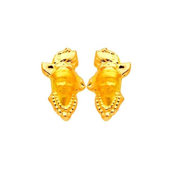 Boucles d'oreilles tête Antillaise Or 18 carats - 16 MM - La Petite Française