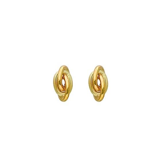 Boucles d'oreilles forçat Or 18 carats - 6 MM - La Petite Française