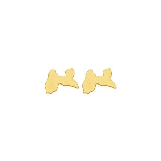 Boucles d'oreilles Guadeloupe Or 18 carats jaune - 6 MM - La Petite Française