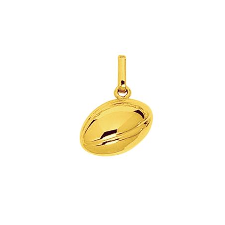 Pendentif ballon de rugby Or 18 carats jaune - La Petite Française