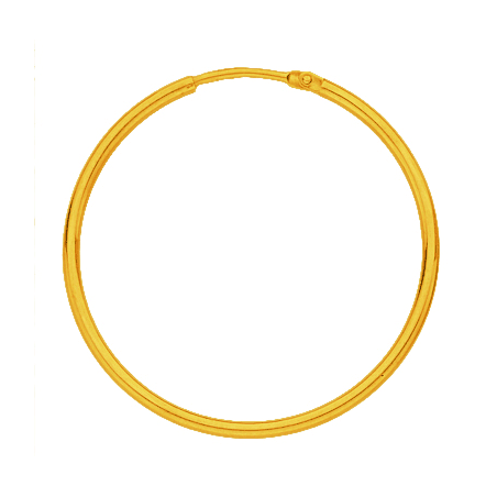 Créoles fil rond 1.5 MM - Or 18 carats jaune - 30 MM - La Petite Française