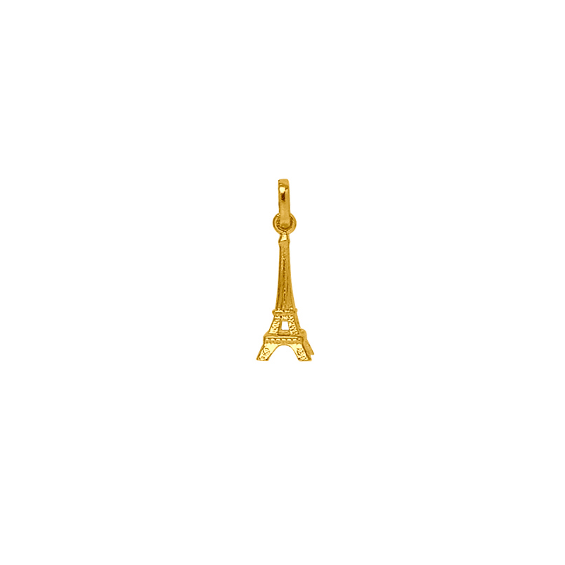 Pendentif Tour Eiffel Or 18 carats jaune - La Petite Française