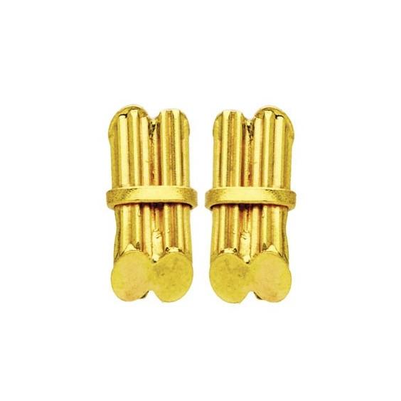 Boucles d'oreilles fagots de canne a sucre Or 18 carats - 11 MM - La Petite Française