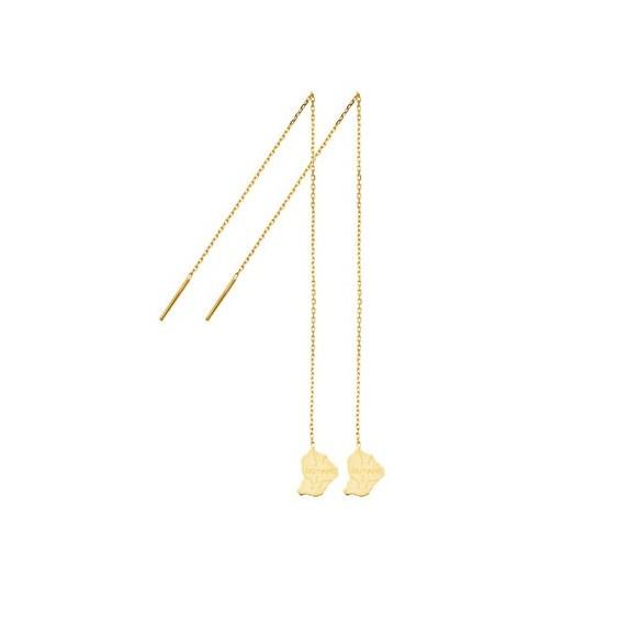 Boucles d'oreilles chainette Guyane Or 18 carats - La Petite Française
