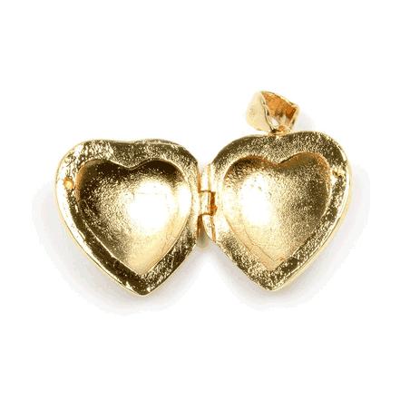 Pendentif cassolette coeur plaqué or - La Petite Française