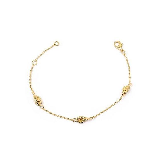 Bracelet 3 noeuds Antillais plaqué or - La Petite Française
