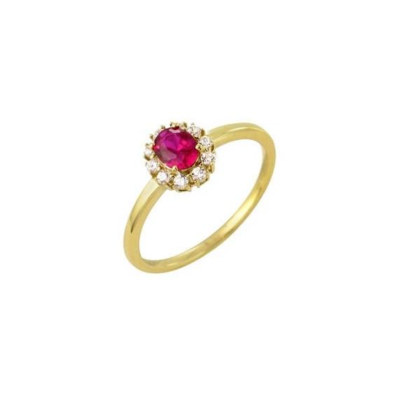 Bague Stellina rubis Or 18 carats - La Petite Française