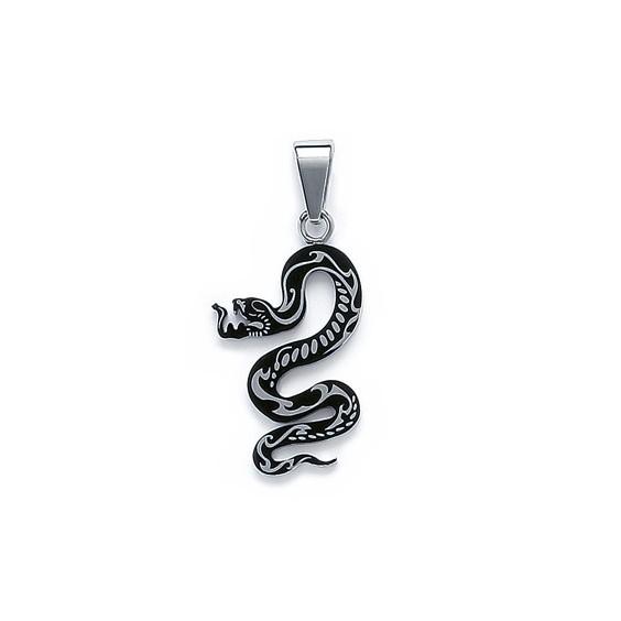 Pendentif serpent acier - La Petite Française