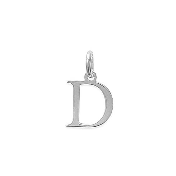 Pendentif lettre D argent - La Petite Française