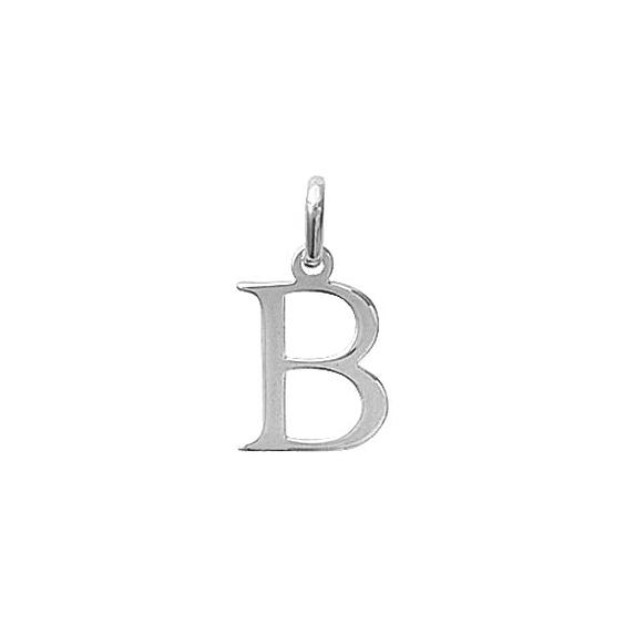 Pendentif lettre B argent - La Petite Française