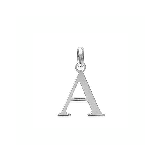 Pendentif lettre A argent - La Petite Française