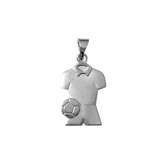 Pendentif tenue de footballeur argent - La Petite Française