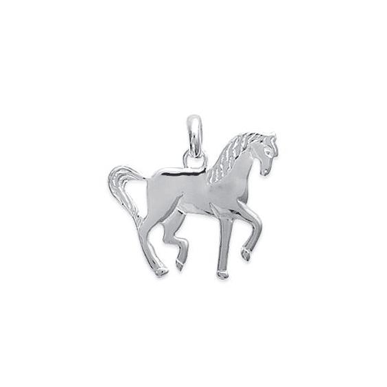 Pendentif cheval de parade argent - La Petite Française