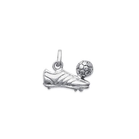 Pendentif chaussure et ballon de foot argent - La Petite Française
