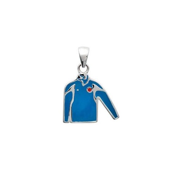 Pendentif maillot bleu Français argent - La Petite Française
