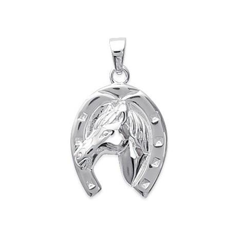 Pendentif fer et tête de cheval argent - La Petite Française
