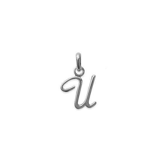 Pendentif lettre Anglaise U argent - La Petite Française