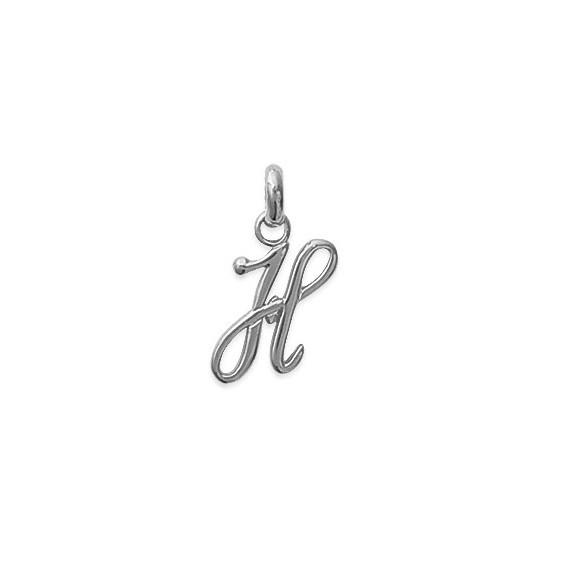Pendentif lettre Anglaise H argent - La Petite Française