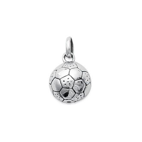 Pendentif ballon de football argent - La Petite Française