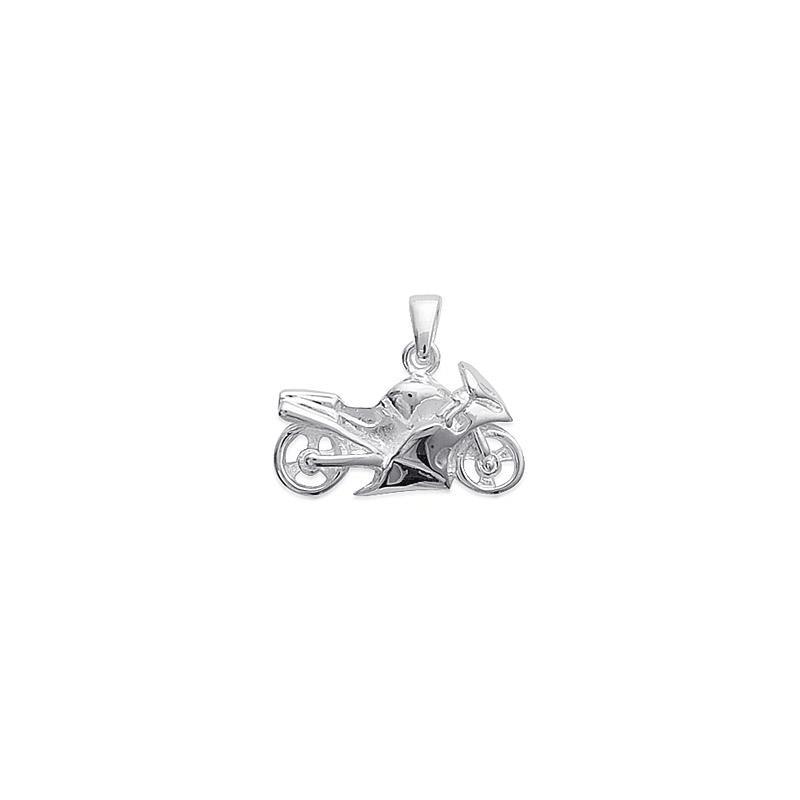 Pendentif moto argent - 20 MM - La Petite Française