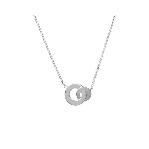 Collier 2 anneaux argent - La Petite Française
