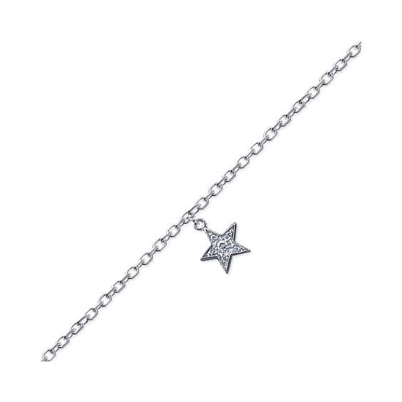 Chaîne de cheville étoile argent - La Petite Française