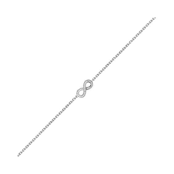 Bracelet infini zirconiums et argent - La Petite Française