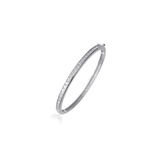 Bracelet jonc argent et zirconium - La Petite Française