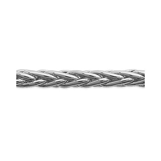 Bracelet maille palmier 4 mm argent - La Petite Française