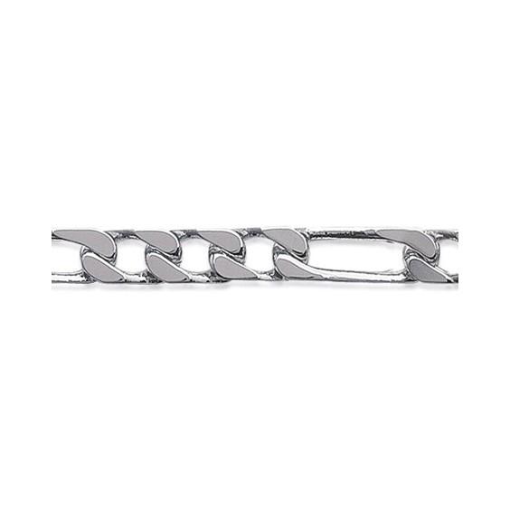 Bracelet maille figaro 1-3  7 mm argent - La Petite Française