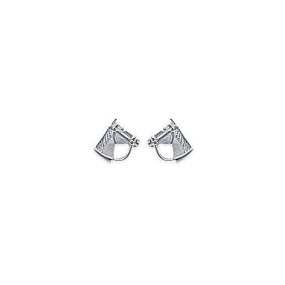Boucles d'oreilles tête de cheval argent - La Petite Française
