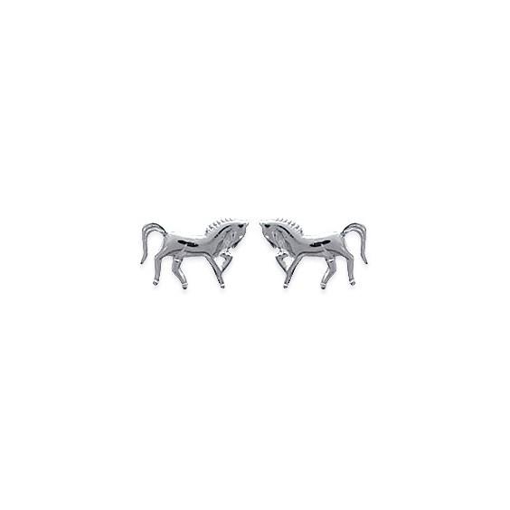 Boucles d'oreilles cheval argent - La Petite Française
