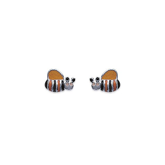 Boucles d'oreilles abeille argent - La Petite Française