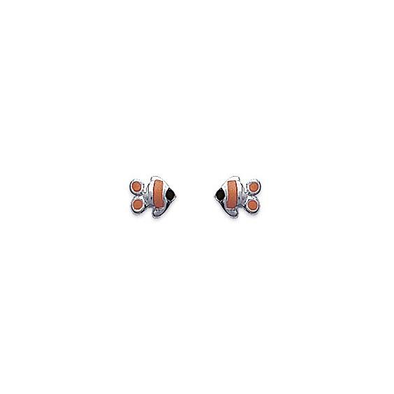 Boucles d'oreilles poisson argent - La Petite Française