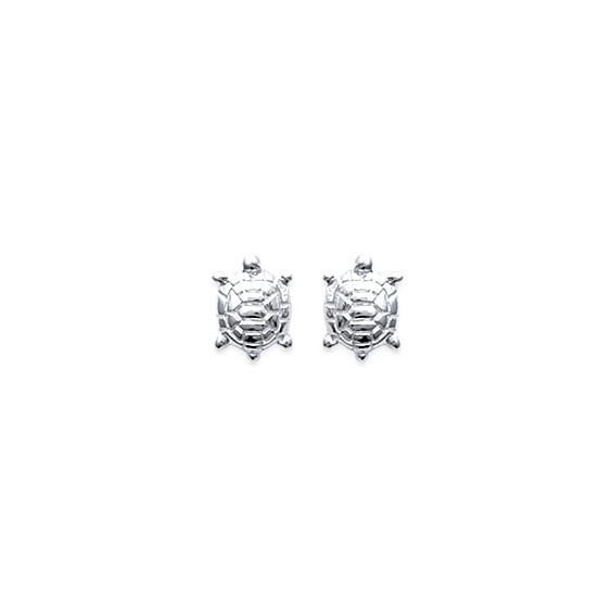 Boucles d'oreilles tortues argent - La Petite Française