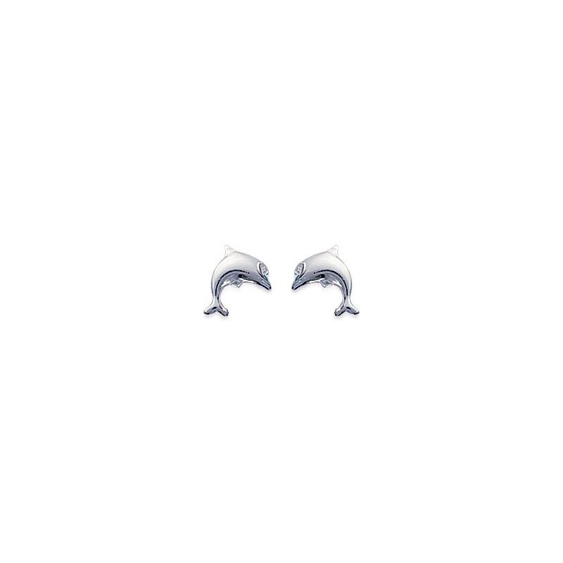 Boucles d'oreilles dauphins argent - La Petite Française