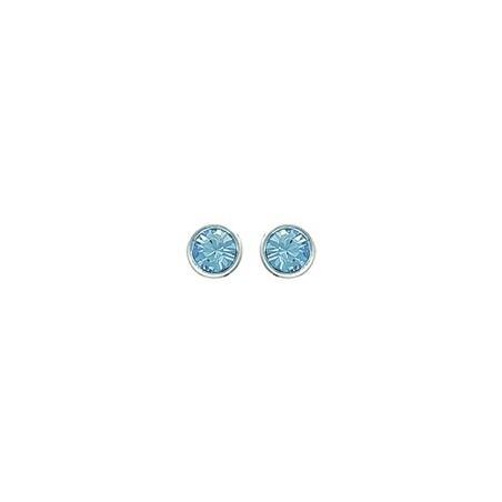 Boucles d'oreilles Cristal bleu argent - La Petite Française