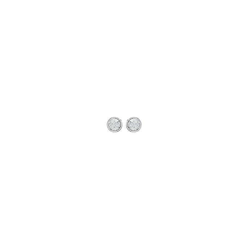 Boucles d'oreilles Cristal blanc argent - La Petite Française