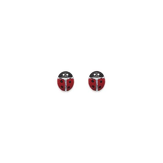Boucles d'oreilles coccinelles argent - La Petite Française